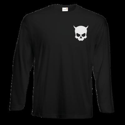 Motiv: Exact 190 Longsleeve FAIR WEAR - ZAX73 Skull ohne Z BLACK