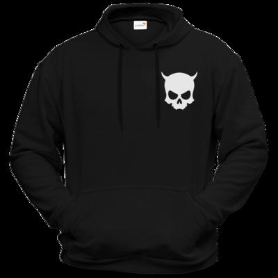 Motiv: Hoodie Premium FAIR WEAR - ZAX73 Skull ohne Z BLACK