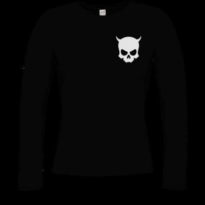 Motiv: Longsleeve Damen Organic - ZAX73 Skull ohne Z BLACK