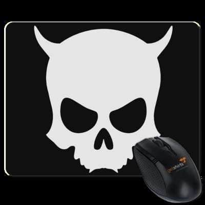 Motiv: Mousepad Textil - ZAX73 Skull ohne Z BLACK