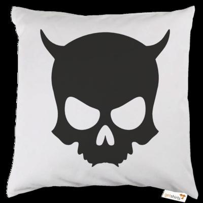 Motiv: Kissen - ZAX73 Skull ohne Z BLACK