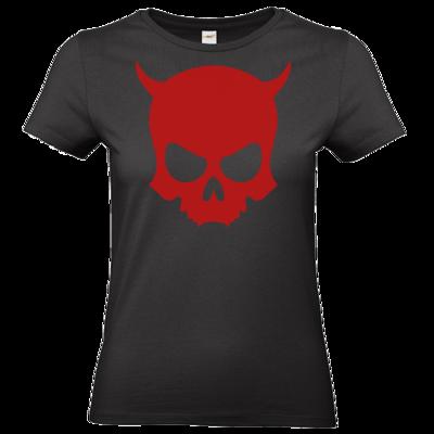 Motiv: T-Shirt Damen Premium FAIR WEAR - ZAX73 Skull ohne Z RED