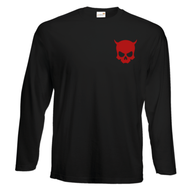 Motiv: Exact 190 Longsleeve FAIR WEAR - ZAX73 Skull ohne Z RED
