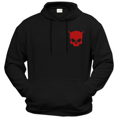Motiv: Hoodie Premium FAIR WEAR - ZAX73 Skull ohne Z RED