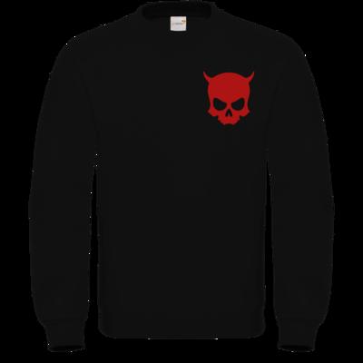 Motiv: Sweatshirt FAIR WEAR - ZAX73 Skull ohne Z RED