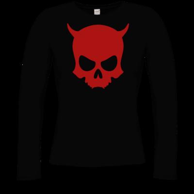 Motiv: Longsleeve Damen Organic - ZAX73 Skull ohne Z RED