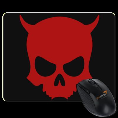 Motiv: Mousepad Textil - ZAX73 Skull ohne Z RED