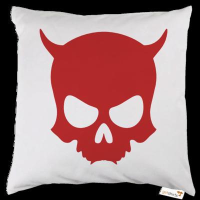 Motiv: Kissen - ZAX73 Skull ohne Z RED