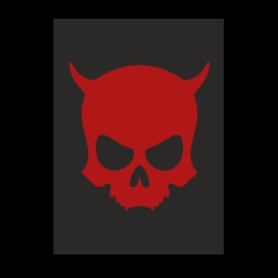 Motiv: Poster A1 - ZAX73 Skull ohne Z RED