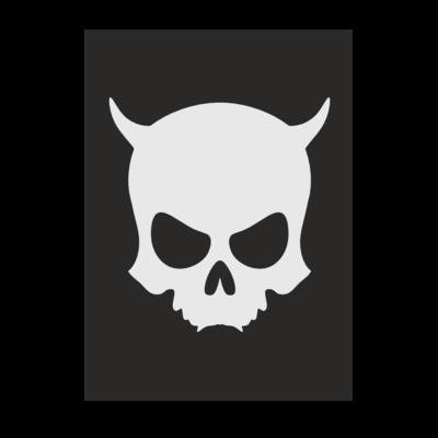 Motiv: Poster A1 - ZAX73 Skull ohne Z BLACK