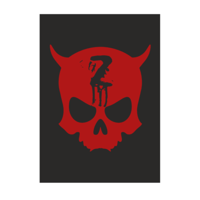 Motiv: Poster A1 - Official ZAX73 Skull RED