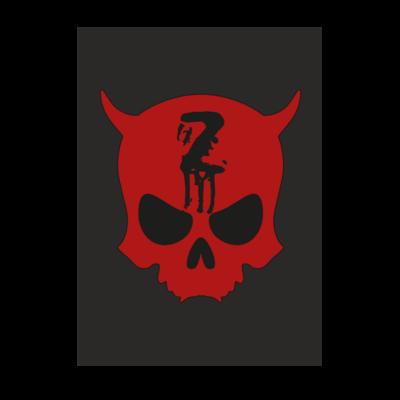 Motiv: Poster A1 - Official ZAX73 Skull Kontur