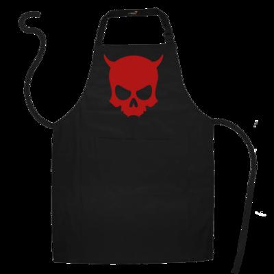 Motiv: Schürze - ZAX73 Skull ohne Z RED