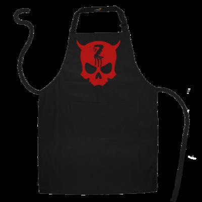Motiv: Schürze - Official ZAX73 Skull RED