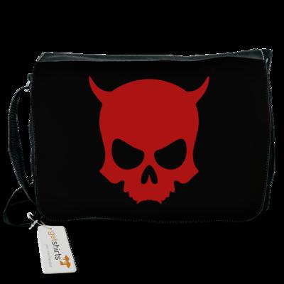 Motiv: Schultertasche - ZAX73 Skull ohne Z RED