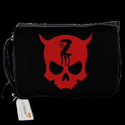 Motiv: Schultertasche - Official ZAX73 Skull RED
