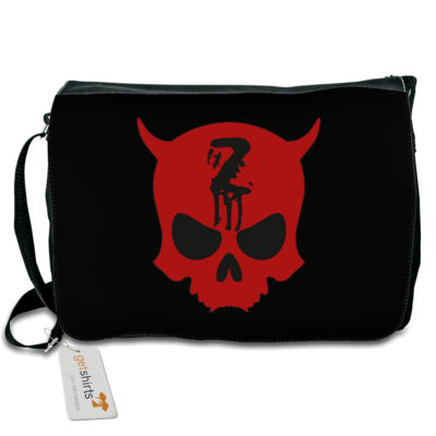 Motiv: Schultertasche - Official ZAX73 Skull Kontur