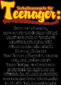 Teenager Verhaltensregeln (1781)