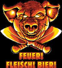 Grillen Feuer Fleisch Bier (6975)