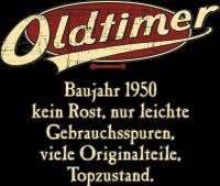 Geburtstag Oldtimer Baujahr 1950