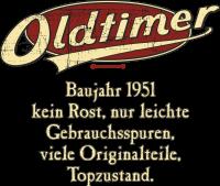 Geburtstag Oldtimer Baujahr 1951