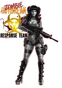Gamer - Zombie Outbreak response Team pinup