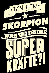 Superkraefte Skorpion Sternzeichen