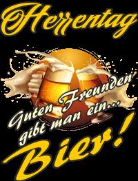 Herrentag Guten Freunden gibt man ein Bier