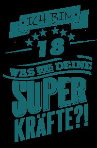 Superkraefte zum 18. Geburtstag - petrol