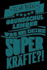 Superpower Grundschul Lehrer - petrol