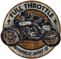 Biker - Full Throttle retro racer vintage look