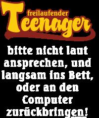 Fun - Teenager - an den Computer zurückbringen