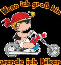 Baby - Kids - wenn ich groß bin werde ich Biker