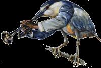 Vogelmenschen - Satchmo-Reiher
