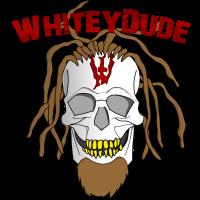 Whitey - Pixel Skull mit Schrift
