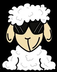 ZOS Schaf mit Sonnenbrille