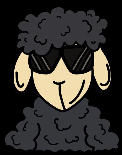 ZOS Schaf mit Sonnenbrille grau