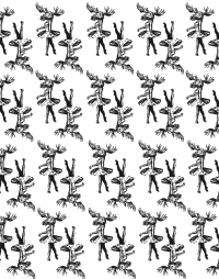 Elch - Pattern (black)