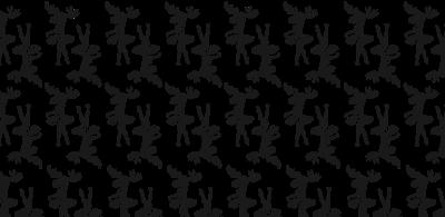 Elch - Pattern (black)