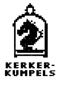 Kerkerkumpels Logo S/W Vertikal