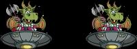 Drache im UFO Tassen