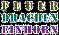 FeuerDrachenEinhorn Schrift