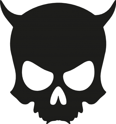 ZAX73 Skull ohne Z BLACK