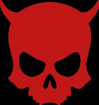 ZAX73 Skull ohne Z RED