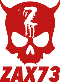 ZAX73 Official Skull Red Text