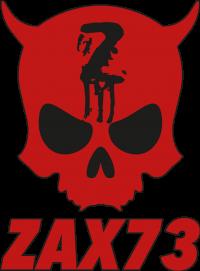 Official ZAX73 Skull mit Text