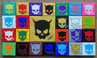 ZAX73 painted Skulls