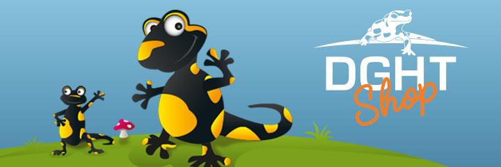 DGHT-Shop - Die Deutsche Gesellschaft für Herpetologie und Terrarienkunde (DGHT) e.V. setzt sich für den Natur- und Artenschutz, die Erforschung von Amphibien und Reptilien sowie deren artgerechte und sachkundige Haltung ein. Hier stellen wir unseren Mitgliedern und Freunden eine Reihe von Fanartikeln zur Verfügung.