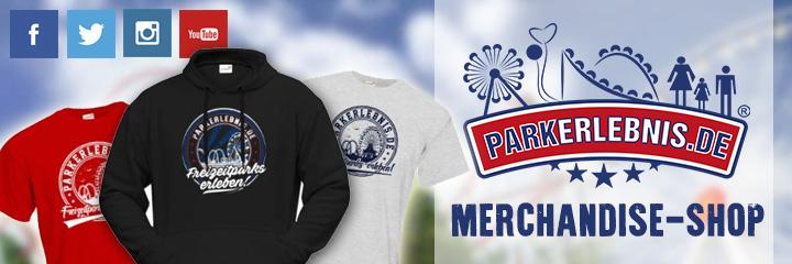 Parkerlebnis.de Merchandise-Shop - Erlebe Freizeitparks - mit passendem Merchandise von Parkerlebnis.de! Egal ob T-Shirts, Hoodies oder Accessoires – hier findest du unsere offiziellen Produkte.