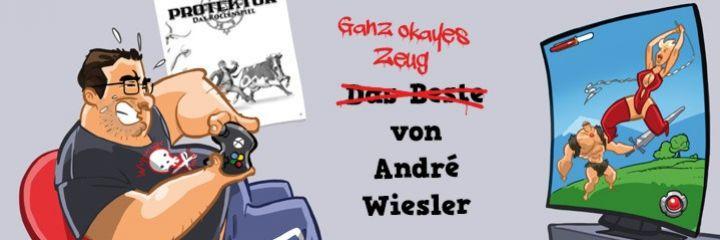 Ganz okayes Zeug von André Wiesler - Hier findet ihr Motive und (dumme) Sprüche zu und aus André Wieslers Comedy-Shows, Romanen und seinen Rollenspielen wie Protektor und Raumhafen Adamant.